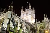 Baths klosterkyrka på natten — Stockfoto