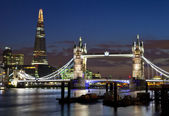 View of Tower Bridge and the Shard in London — Stock Photo