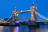Tower Bridge at Dusk in London — Stock Photo