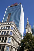 """The """"Walkie Talkie"""" Building on Fenchurch Street in London. — Stock Photo"""