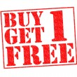 BUY 1 GET 1 FREE — Stock Photo