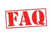FAQ Stamp — Stock Photo