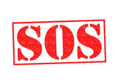 SOS Rubber Stamp — Stock Photo