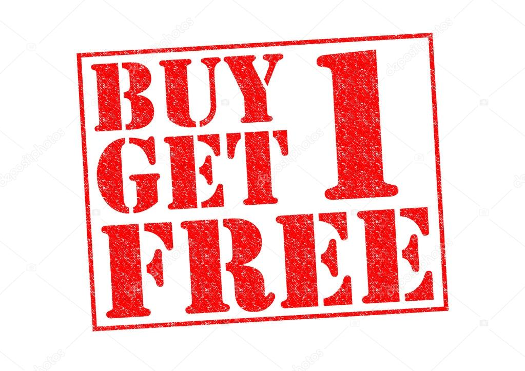 BUY 1 GET 1 FREE — Stock Photo © chrisdorney #32760393: depositphotos.com/32760393/stock-photo-buy-1-get-1-free.html