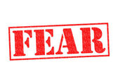 FEAR Rubber Stamp — Stock Photo