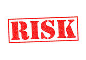 RISK Rubber Stamp — Stock Photo