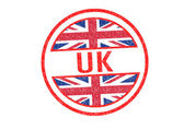 UK Rubber Stamp — Stock Photo