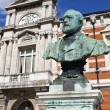 Sir Henry Tate statue outside the Tate Public Library in Brixton — Stock Photo