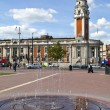 Windrush Square and Lambeth Town Hall in Brixton, London. — Stock Photo