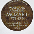 ������, ������: Wolfgang Amadeus Mozart Plaque in London