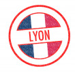 LYON Rubber Stamp — Foto de stock #33701225