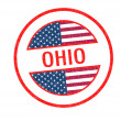 OHIO Rubber Stamp — Stock Photo