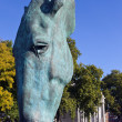Horse Head Sculpture at Marble Arch in London — Stock Photo