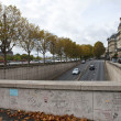Pont de l'Alma Tunnel in Paris - The site of Princess Diana's De — Stock Photo