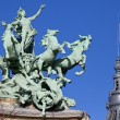 Grand Palais Quadriga in Paris — Stock Photo
