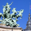 Grand Palais Quadriga in Paris — Stock fotografie