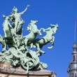 Grand Palais Quadriga in Paris — Lizenzfreies Foto