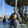 Fountain at Place de la Concorde in Paris — Stock Photo