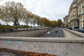 Pont de l'Alma Tunnel in Paris - The site of Princess Diana's De — Stok fotoğraf