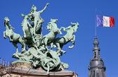 Grand Palais Quadriga in Paris — Stock Photo