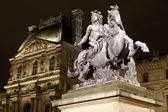 Louis XIV Statue at The Louvre in Paris — Stock Photo