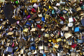 Love Padlocks on the Pont Des Arts in Paris — Stock Photo
