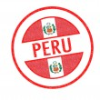 PERU Rubber Stamp — Stock Photo