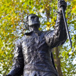 Laurence Olivier Statue in London — Stock Photo