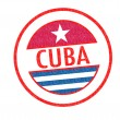 CUBA Rubber Stamp — Stock Photo