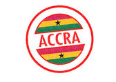 ACCRA Rubber Stamp — Stock Photo