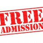 FREE ADMISSION — Stock Photo #40113083