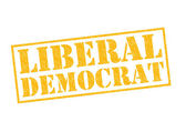 LIBERAL DEMOCRAT — Stock Photo