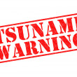 Stock Photo: TSUNAMI WARNING