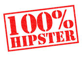 100 Percent HIPSTER — Stockfoto
