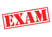 EXAM Rubber Stamp — Stock Photo
