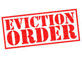 EVICTION ORDER — Stock Photo