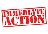IMMEDIATE ACTION — Zdjęcie stockowe