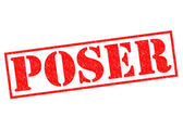 POSER red Rubber Stamp over a white background. — Stock Photo