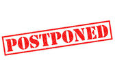 POSTPONED — Stock Photo