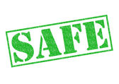 SAFE Rubber Stamp — Stock Photo