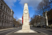 The Cenotaph down Whitehall in London — Foto Stock