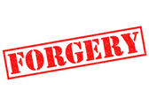 FORGERY — Stock Photo