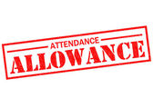 ATTENDANCE ALLOWANCE — Stock Photo