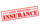ALIEN ABDUCTION INSURANCE — Stock Photo