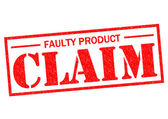 FAULTY PRODUCT CLAIM — Stock Photo