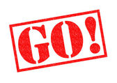 GO! Rubber Stamp — Stock Photo
