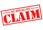 NO WIN NO FEE CLAIM — Stock Photo