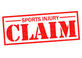 SPORTS INJURY CLAIM — Stock Photo