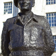 Stock Photo: Field Marshall Viscount Montgomery of Alamein Statue