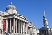 National Gallery and St Martin in the Fields Church — Stockfoto
